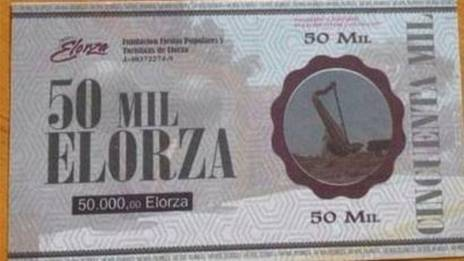A photo of a 50,000 Elorza bill