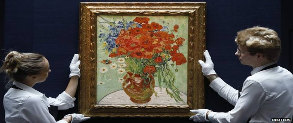 Still Life, Vase with Daisies, and Poppies by Vincent Van Gogh